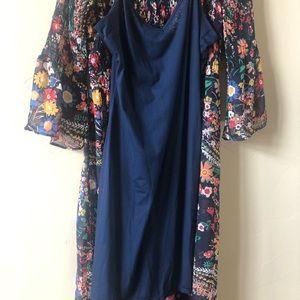 ECI Dresses - ECI New York, Blue Paisley, maxi dress